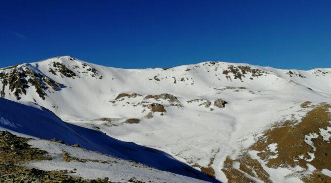 Tornem al Puig de Dòrria. Precaució a alta muntanya.